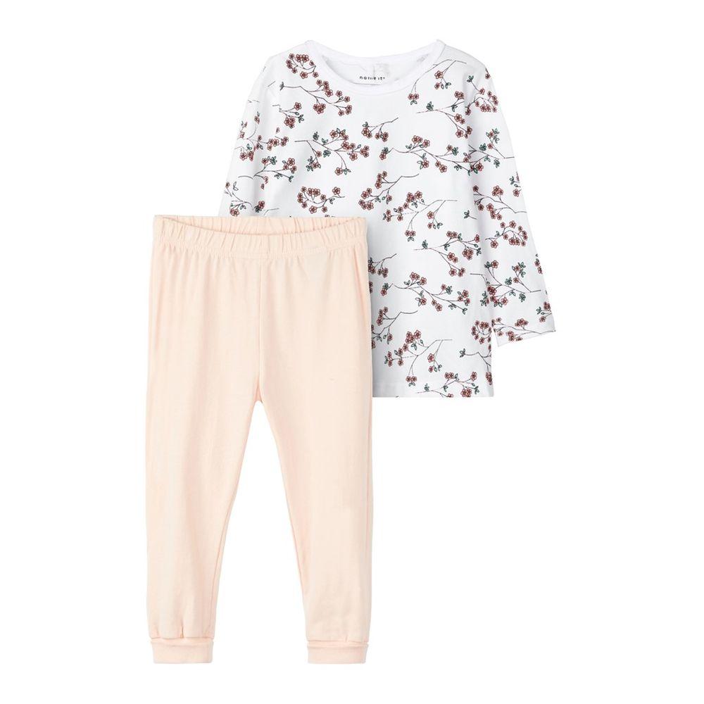 Пижама Name it Little flowers, арт. 193.13163538.BWHI, цвет Розовый