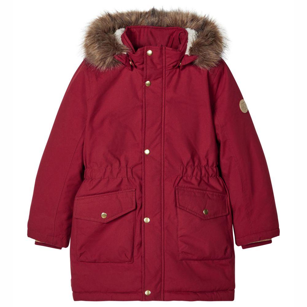 Куртка-парка Name it Vera, арт. 203.13178865.BRED, цвет Красный