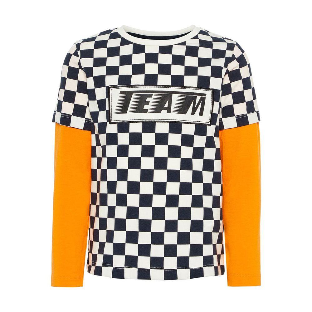 Реглан Name it Team , арт. 13162299.SORA, цвет Черно-белый