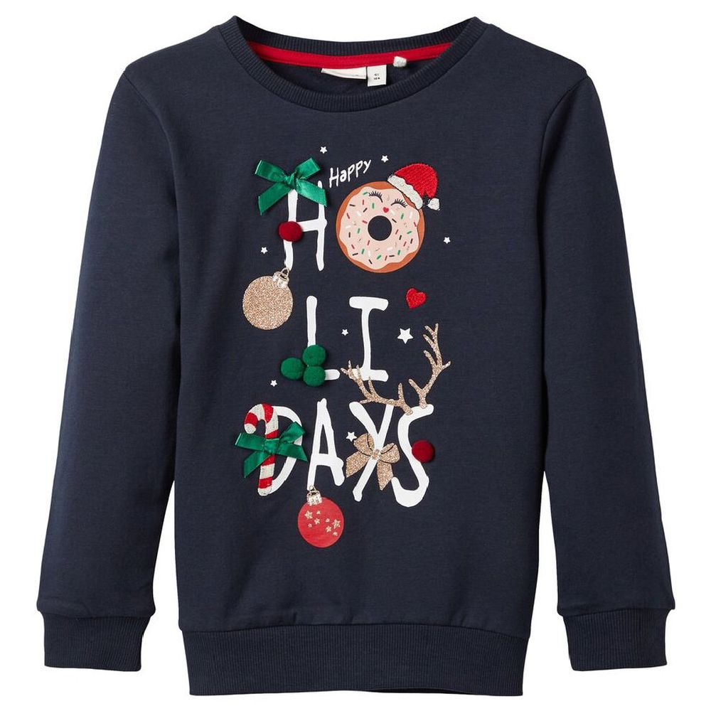 Джемпер Name it Happy holidays, арт. 193.13172024.DSAP, цвет Синий