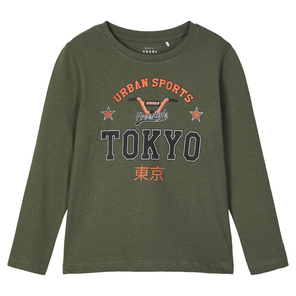 Реглан Name it Freestyle Tokyo, арт. 203.13179191.THYM, цвет Оливковый