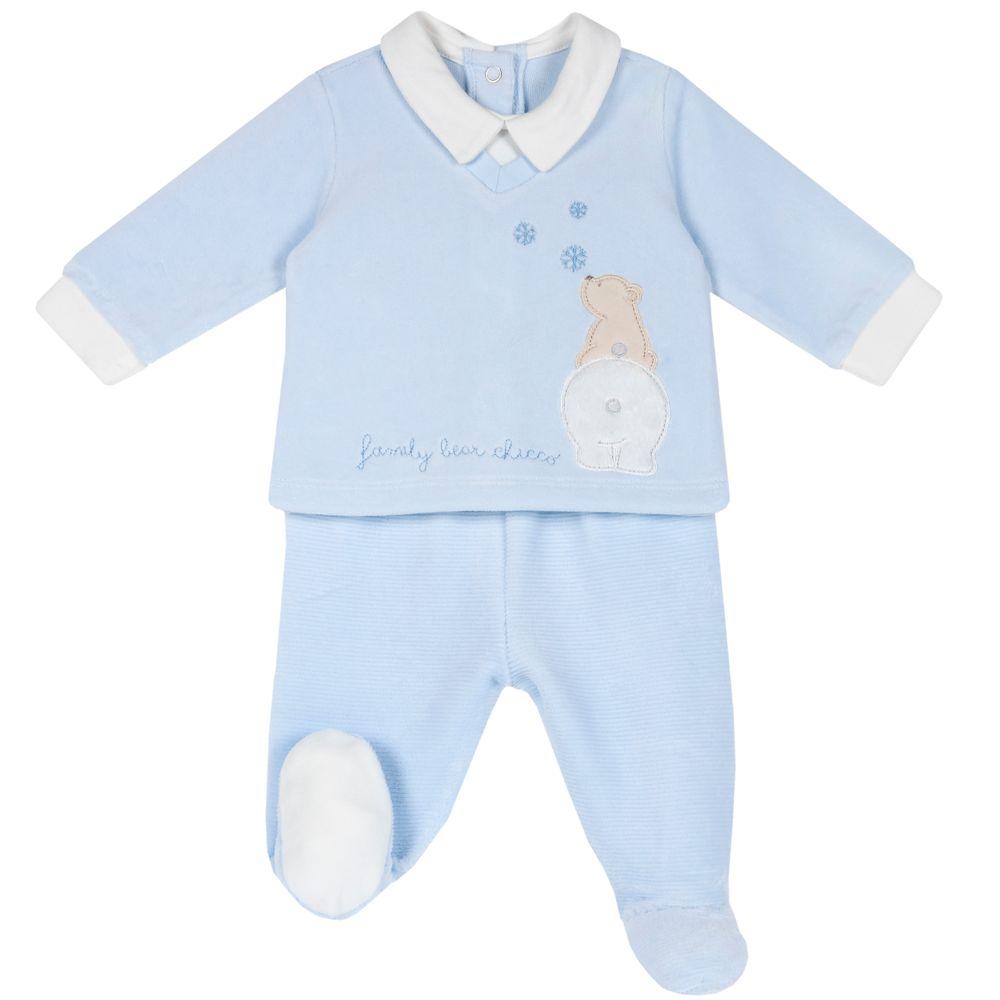 Костюм Chicco Polar friends: рубашка и ползунки, арт. 090.76541.021, цвет Голубой