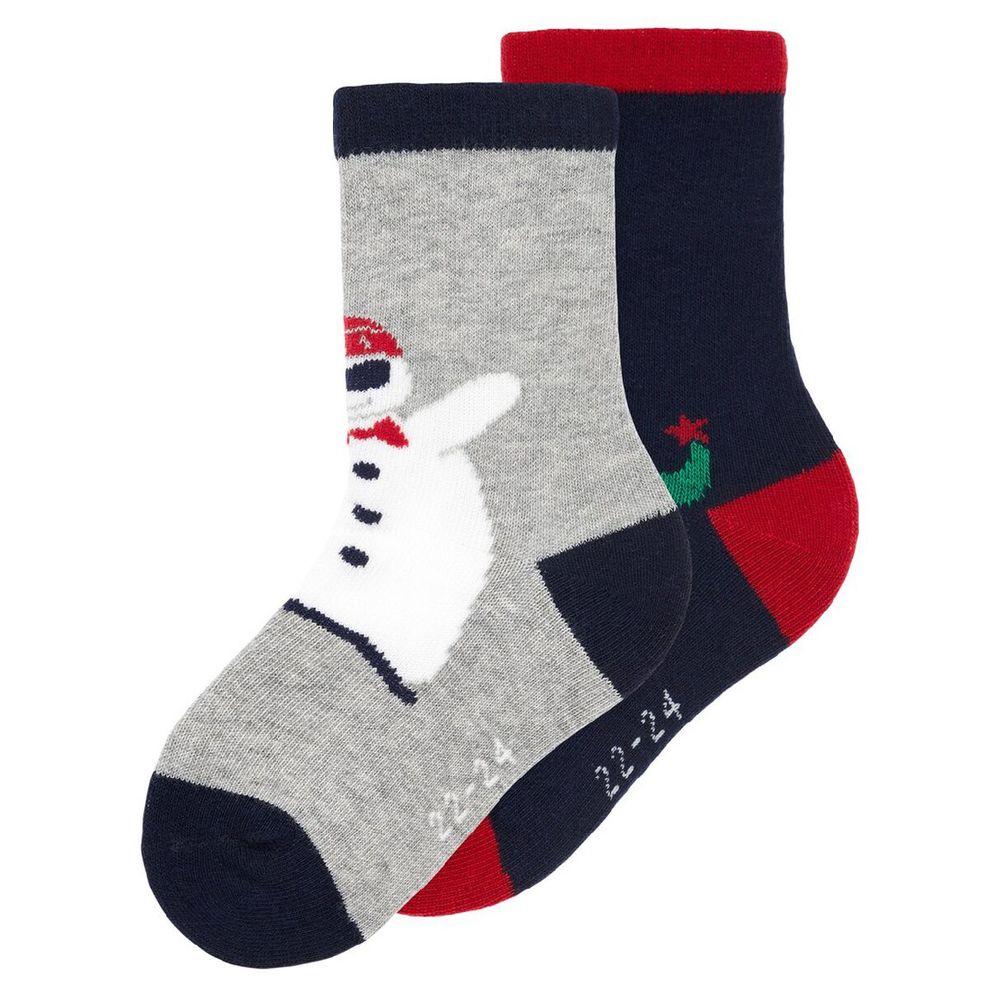 Носки (2 пары) Name it Merry Christmas, арт. 193.13172529.GMEL, цвет Серый