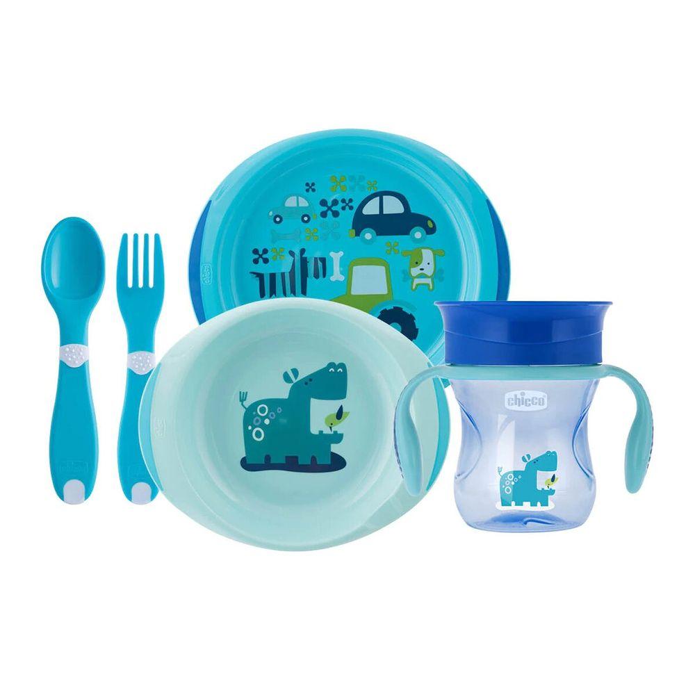 Набор посуды Chicco Meal Set, 12м+, арт. 16201, цвет Голубой