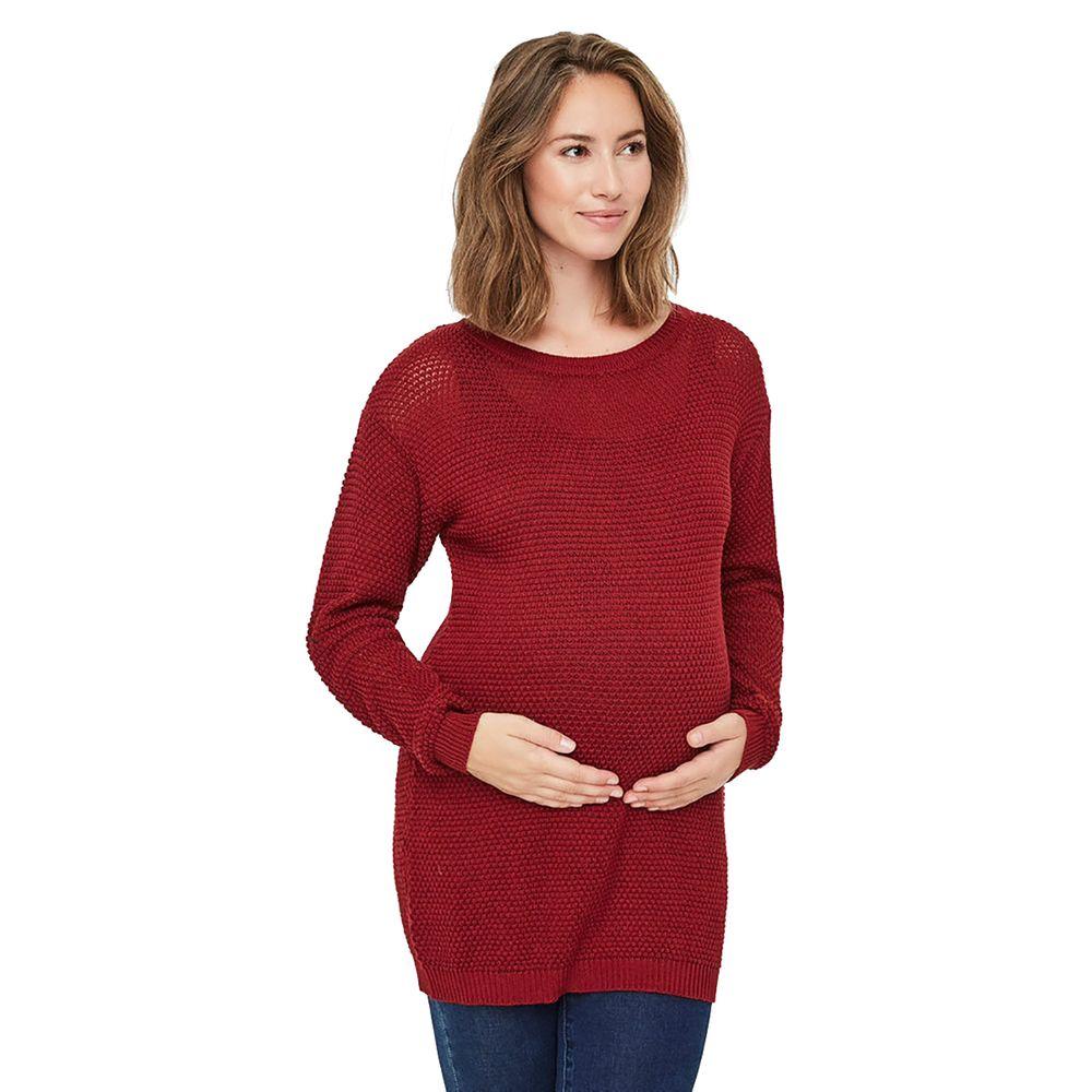 Джемпер для беременных Mamalicious Flame, арт. 193.20008178.FBRI, цвет Бордовый