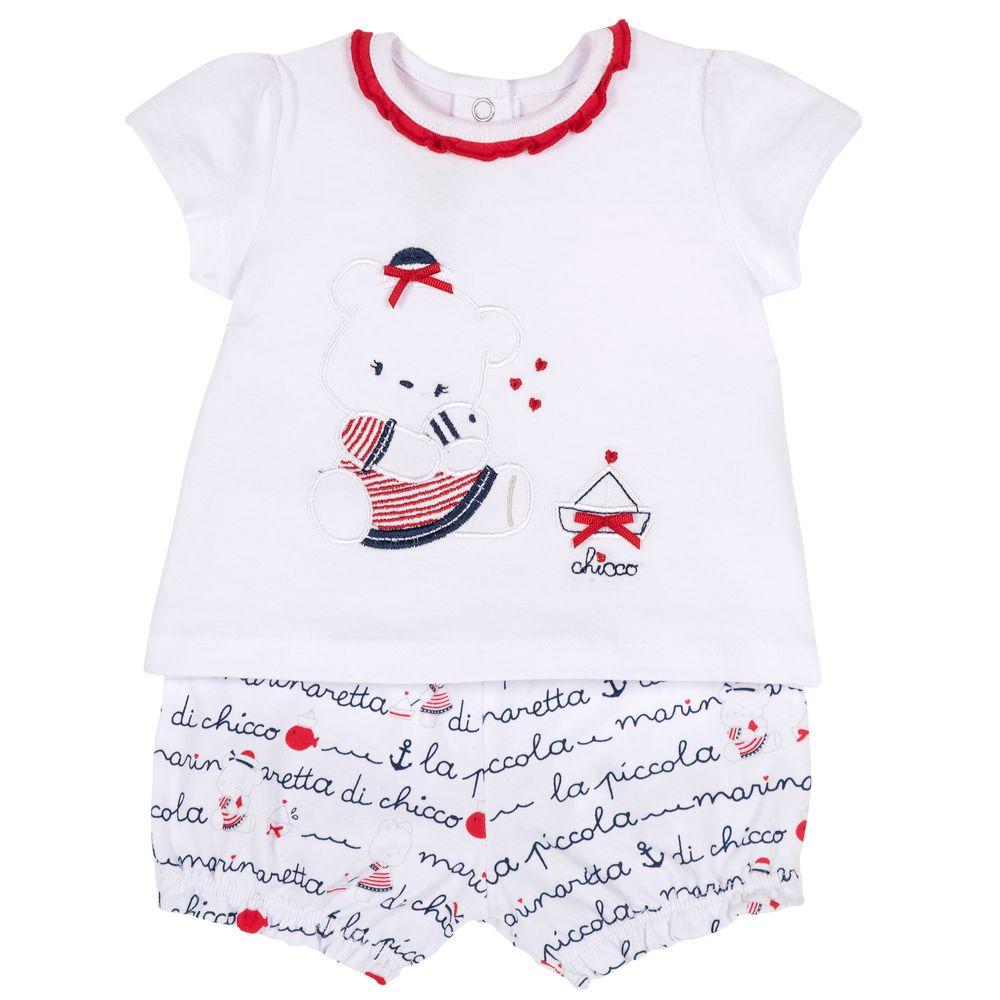Костюм Chicco Marinaretta: футболка и шорты , арт. 090.76458.086, цвет Красный
