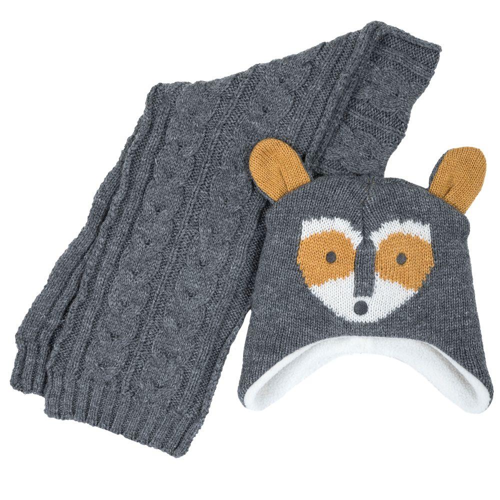 Комплект Chicco Fox: шапка и шарф, арт. 090.04540.095, цвет Серый