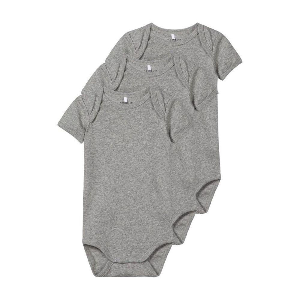 Боди (3 шт) Name it Grey cat, арт. 201.13165021.GMEL, цвет Серый