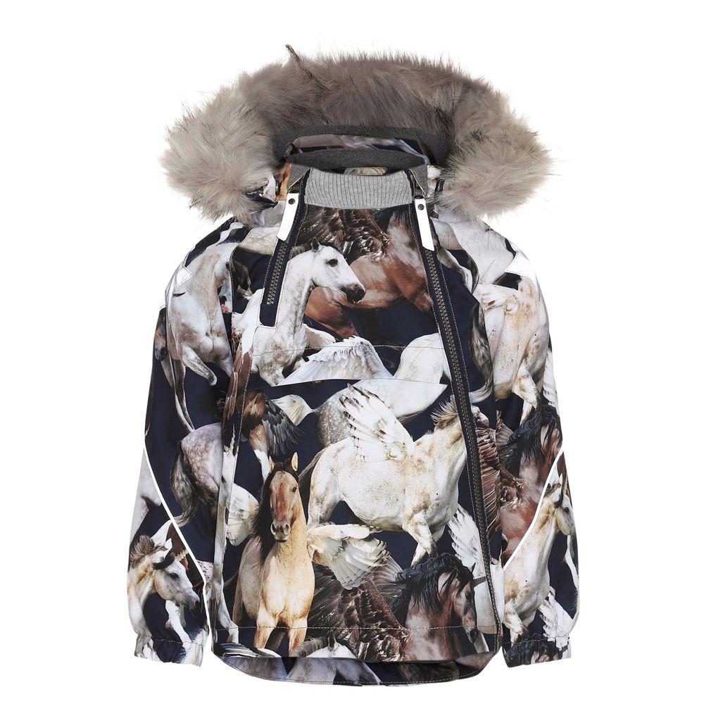 Термокуртка Molo Hopla Fur Unicorn, арт. 5W19M301.4859, цвет Синий