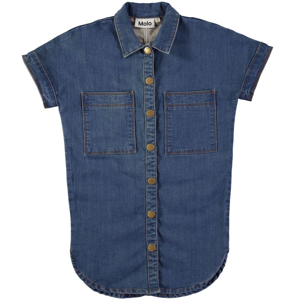 Джинсовая рубашка Molo Charlize Washed, арт. 2W18E109.2749, цвет Синий