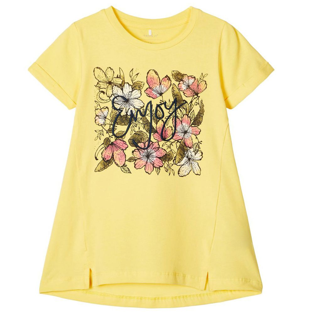 Туника Name it Summer flowers, арт. 201.13177677.AGOL, цвет Желтый