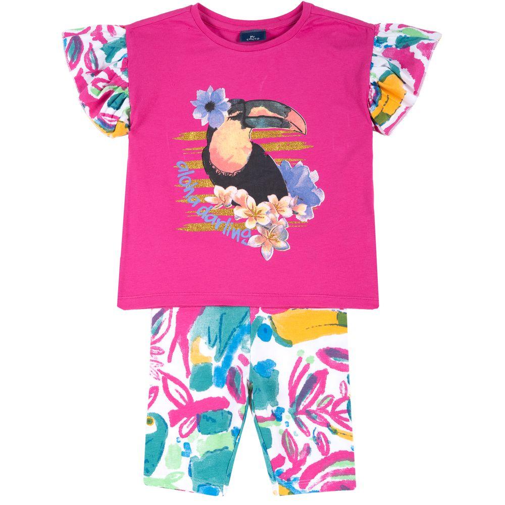 Костюм Chicco Aloha: футболка и шорты, арт. 090.76531.018, цвет Малиновый