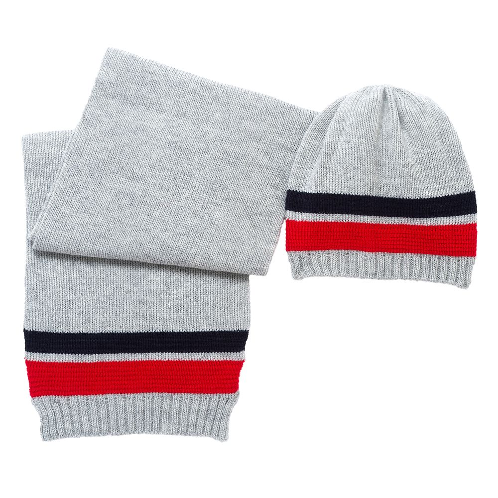 Комплект Chicco Nice: шапка и шарф , арт. 090.04566.095, цвет Серый