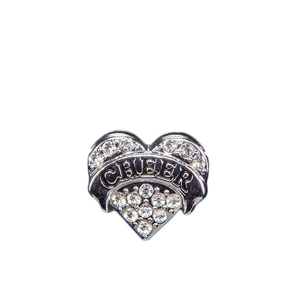 "Эмодзи Tinto ""Silver cheer heart"", арт. AC2238.1, цвет Серебряный"