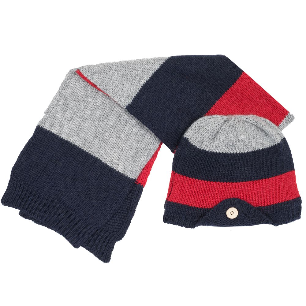 Комплект Chicco Calaxy: шапка и шарф , арт. 090.04549.088, цвет Синий