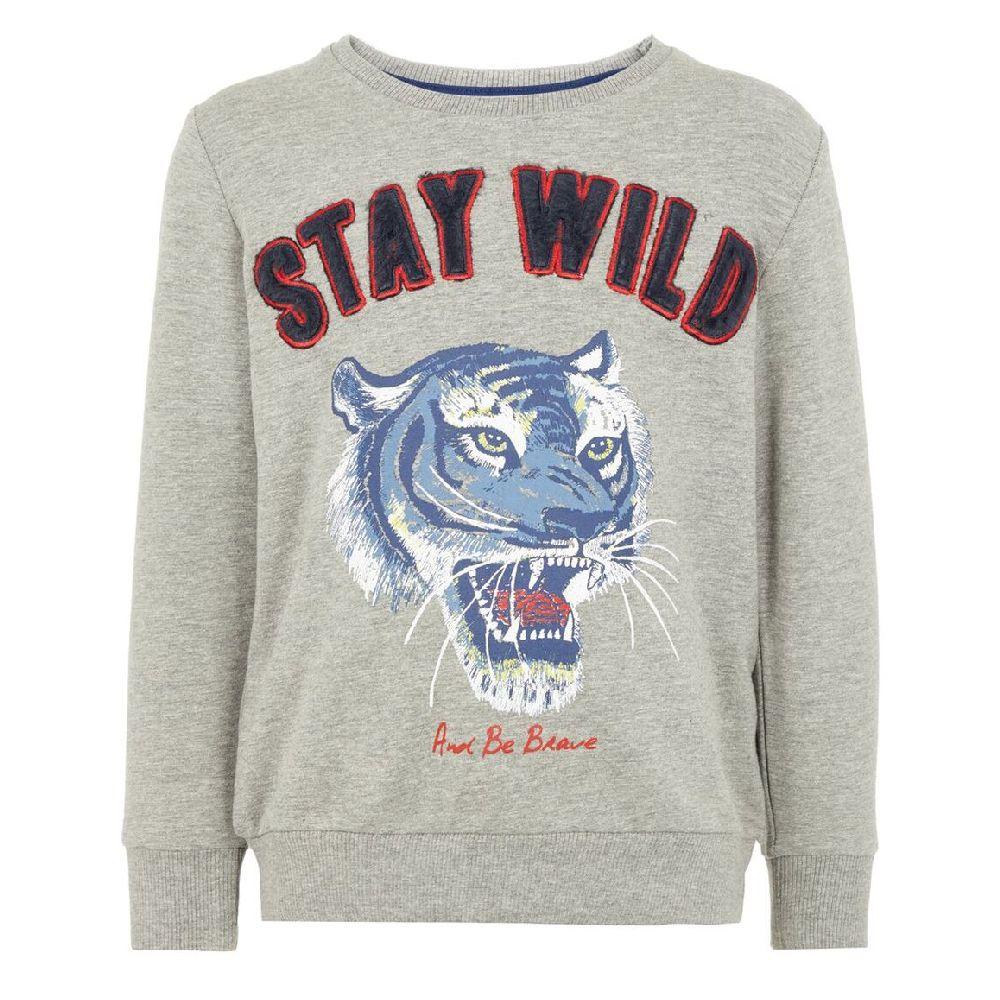 Джемпер Name it Stay wild (серый), арт. 193.13167366.GMEL, цвет Серый