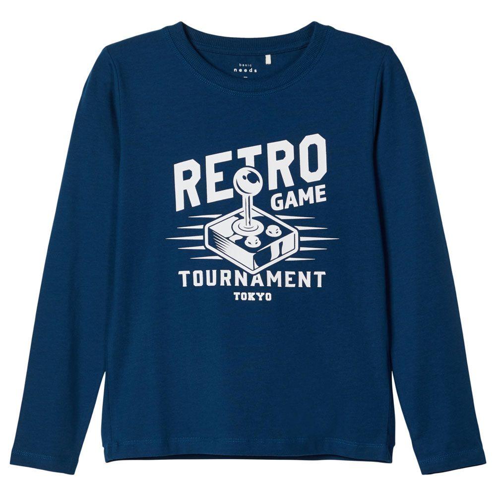 Реглан Name it Retro game, арт. 203.13179180.GSEA, цвет Синий