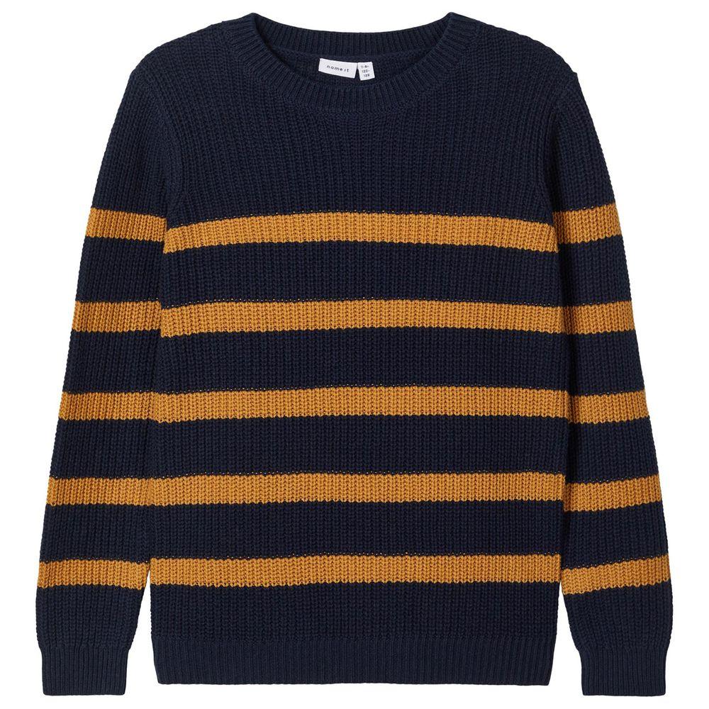 Джемпер Name it Colorful stripes, арт. 203.13180400.DSAP, цвет Синий