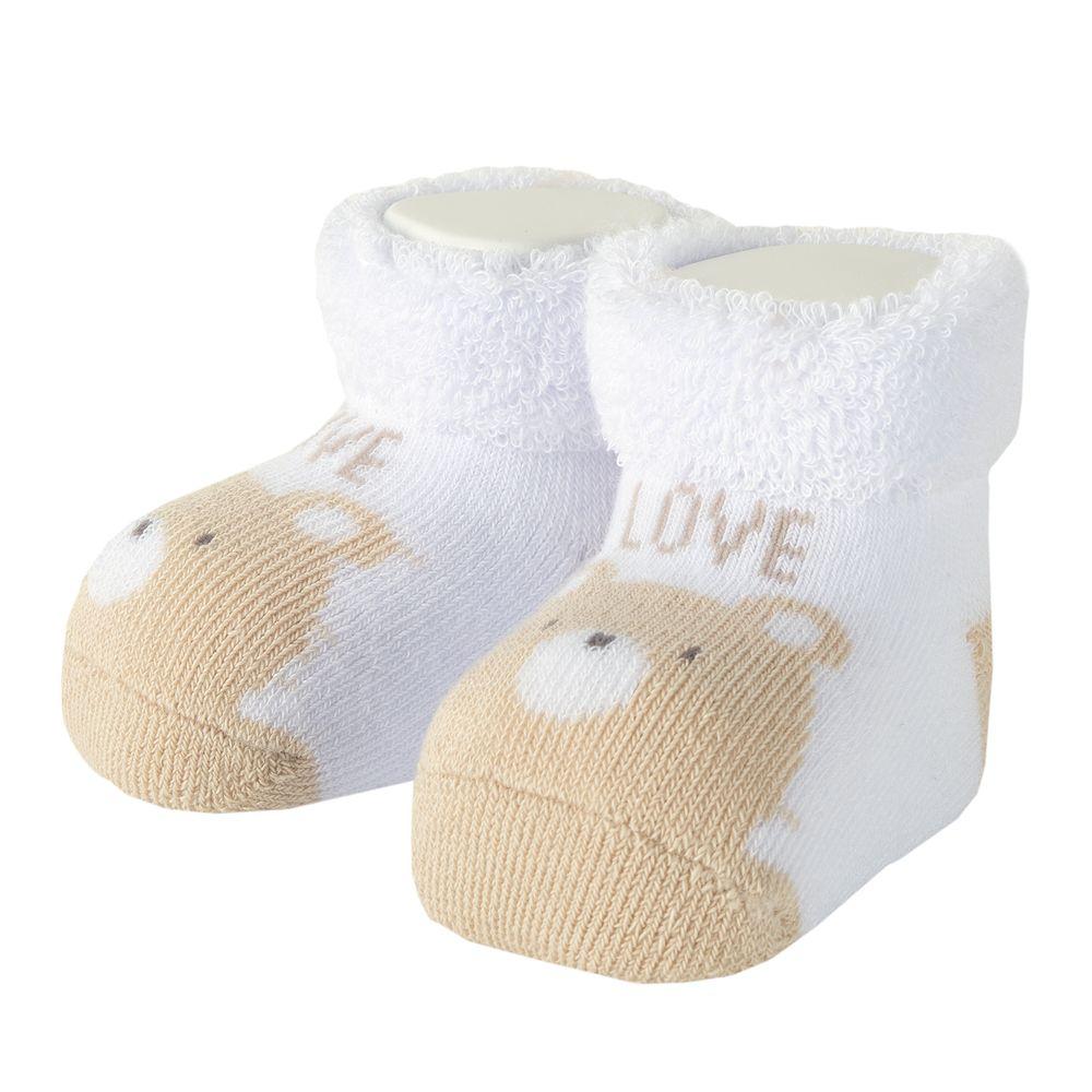 Носки-пинетки Chicco Little mouse, арт. 091.01332.033, цвет Белый