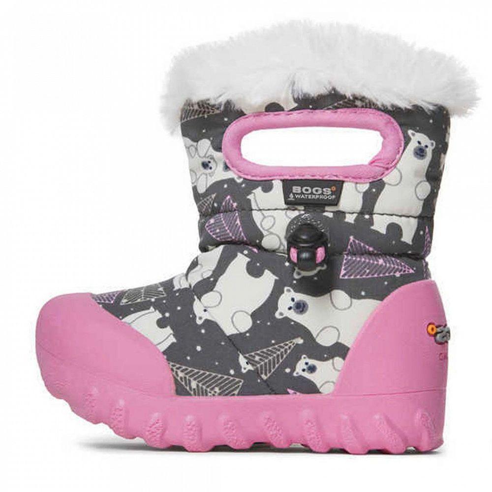 Сапоги Bogs B-Moc Bears pink'19, арт. 193.72179I.074, цвет Серый