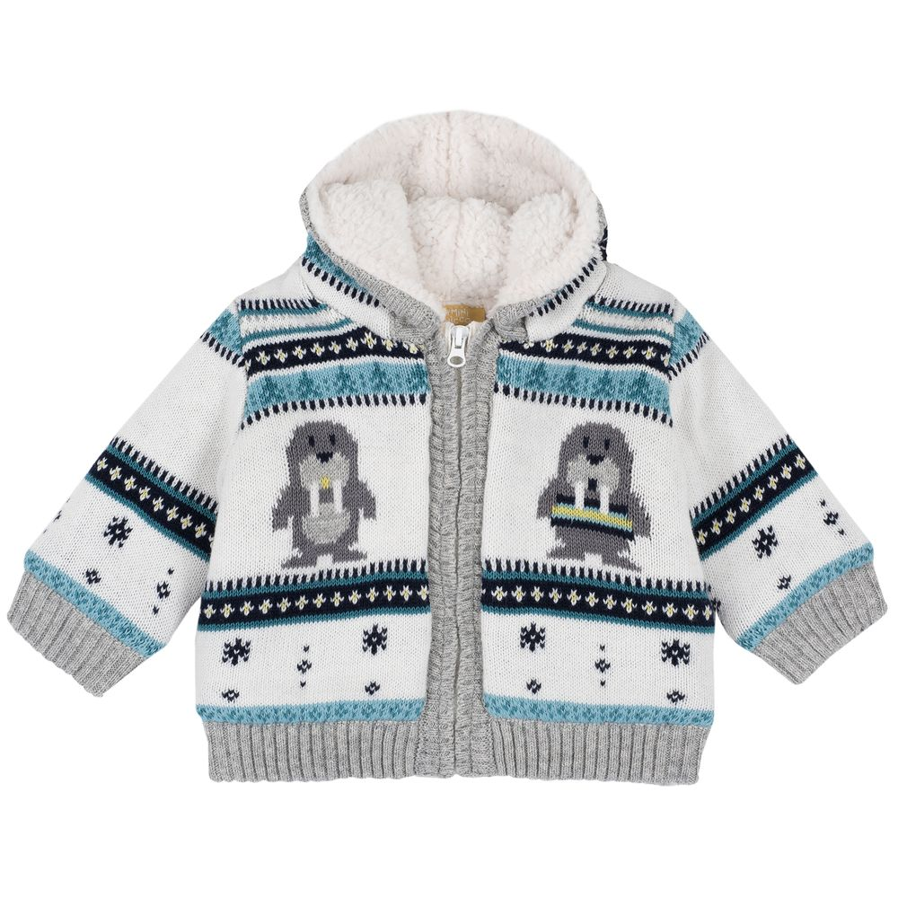 Кардиган c капюшоном Chicco Arctic, арт. 090.96935.030, цвет Белый