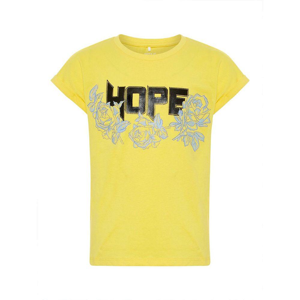 Футболка Name it Hope (желтая), арт. 13161277.PYEL, цвет Желтый