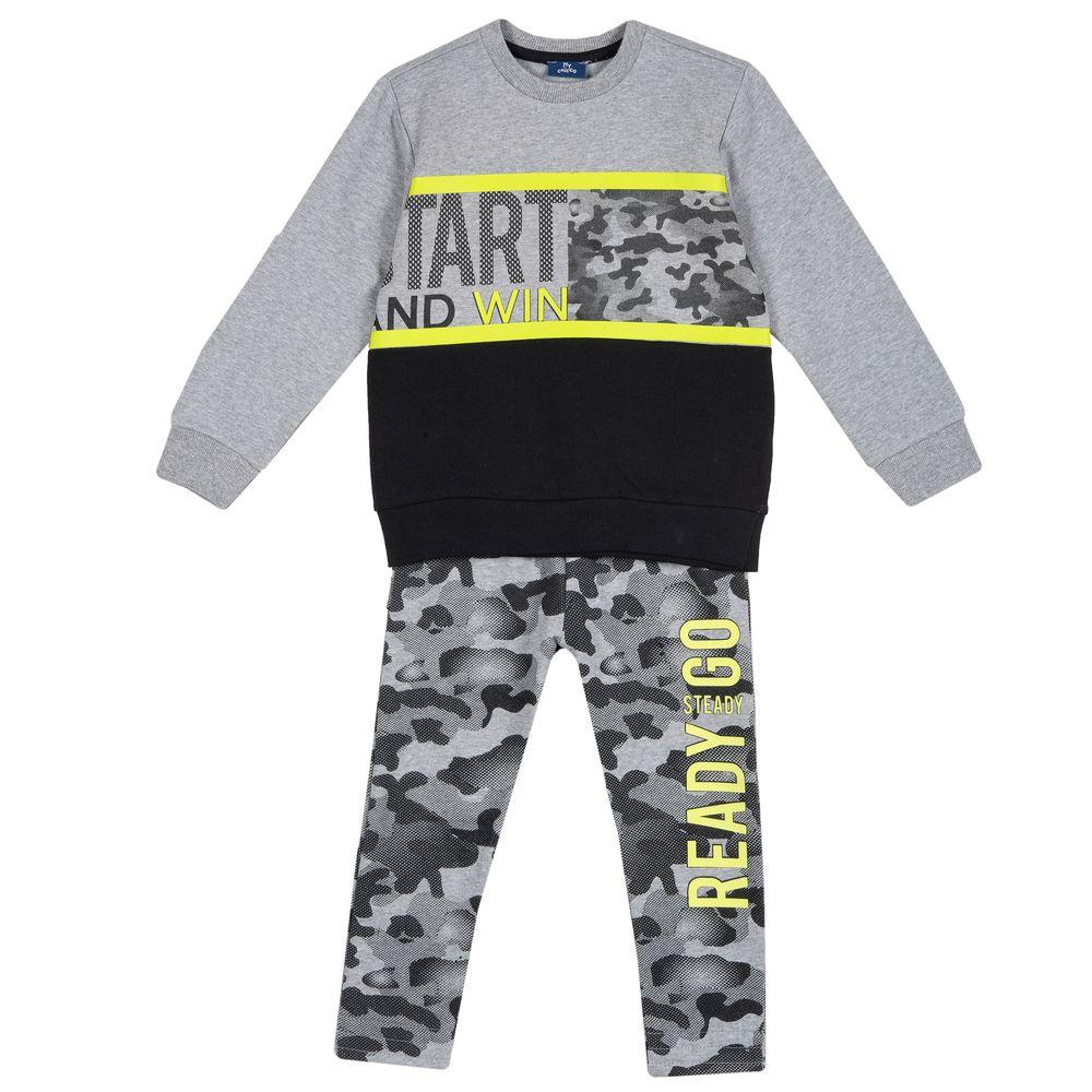 Костюм Chicco Ready go: реглан и брюки, арт. 090.78609.095, цвет Серый