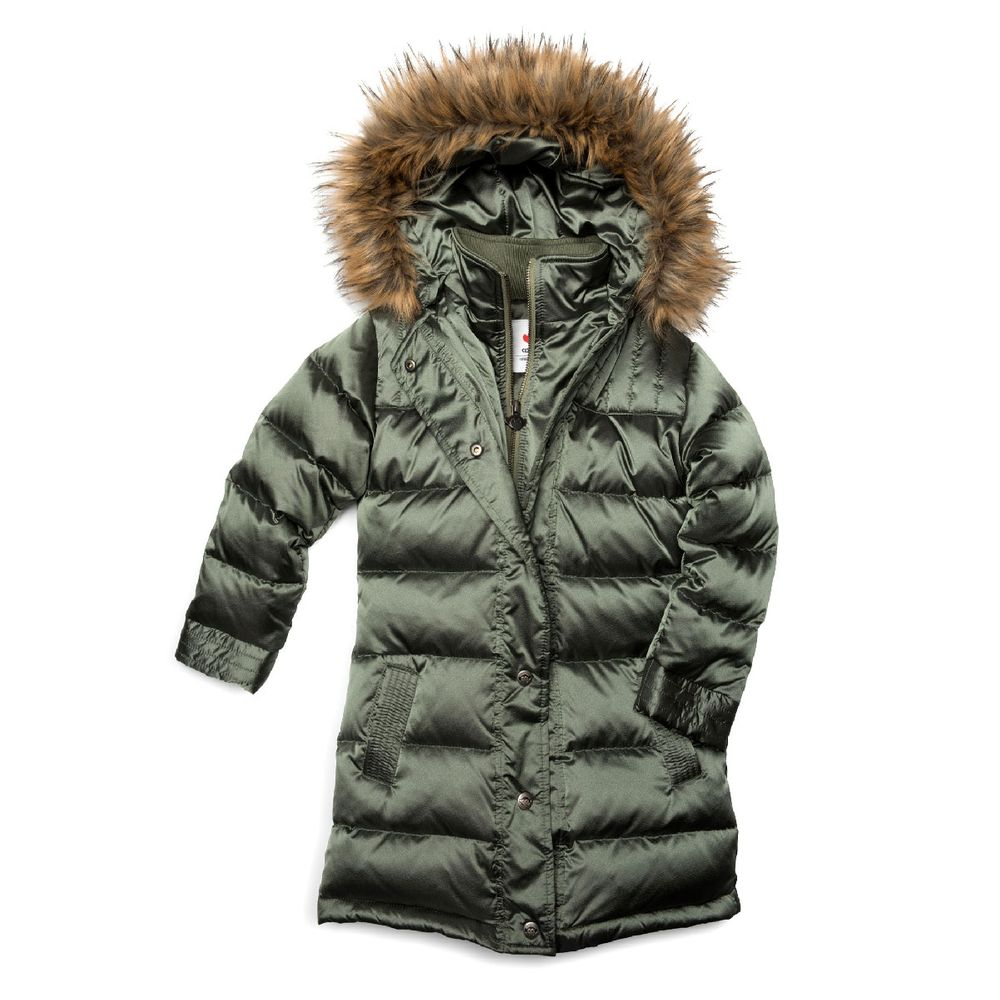 Куртка пуховая Appaman Lori , арт. 193.U5LD.mos, цвет Оливковый