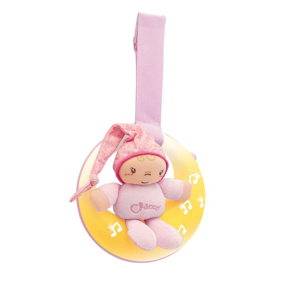 """Игрушка музыкальная на кроватку Chicco """"Good night Moon"""", арт. 02426, цвет Розовый"""