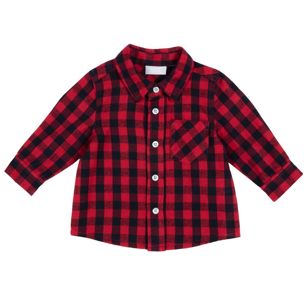 Рубашка Chicco Chess, арт. 090.54089.075, цвет Красный