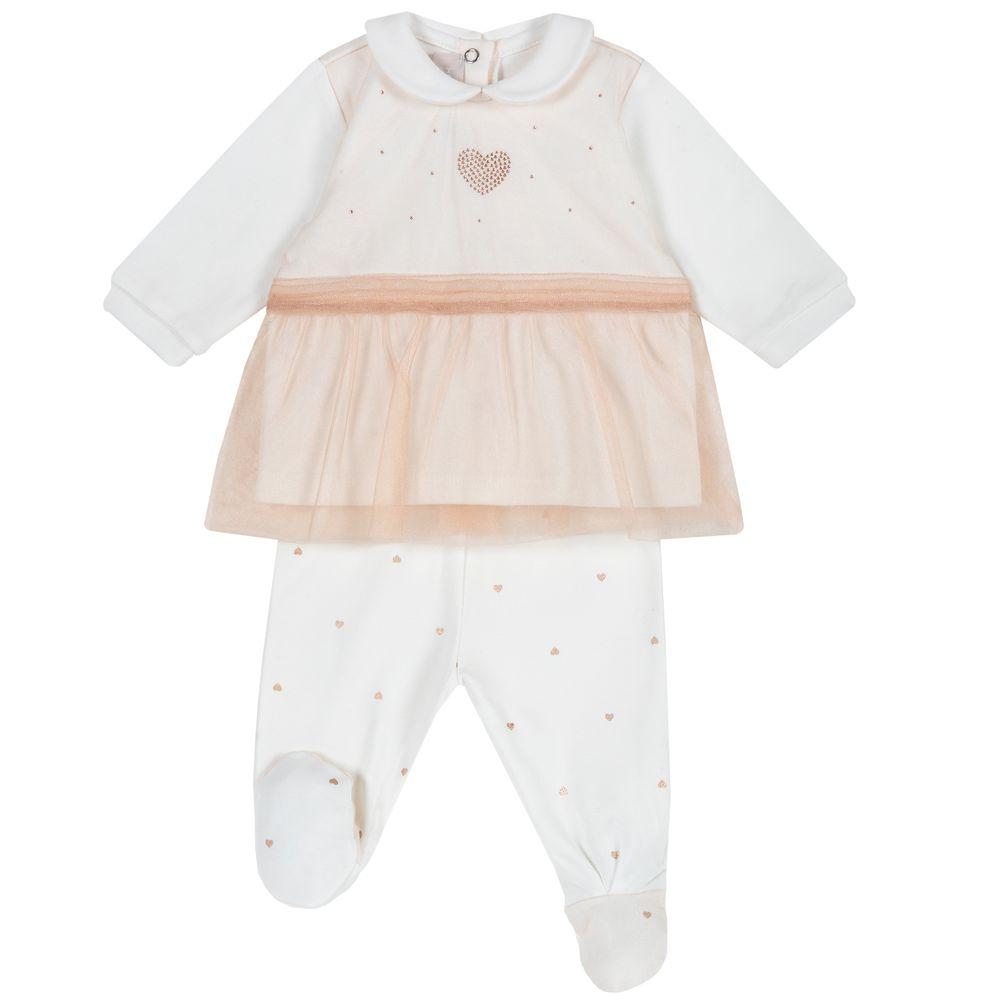 Костюм Chicco Happy princess: рубашка и ползунки, арт. 090.76555.064, цвет Бежевый