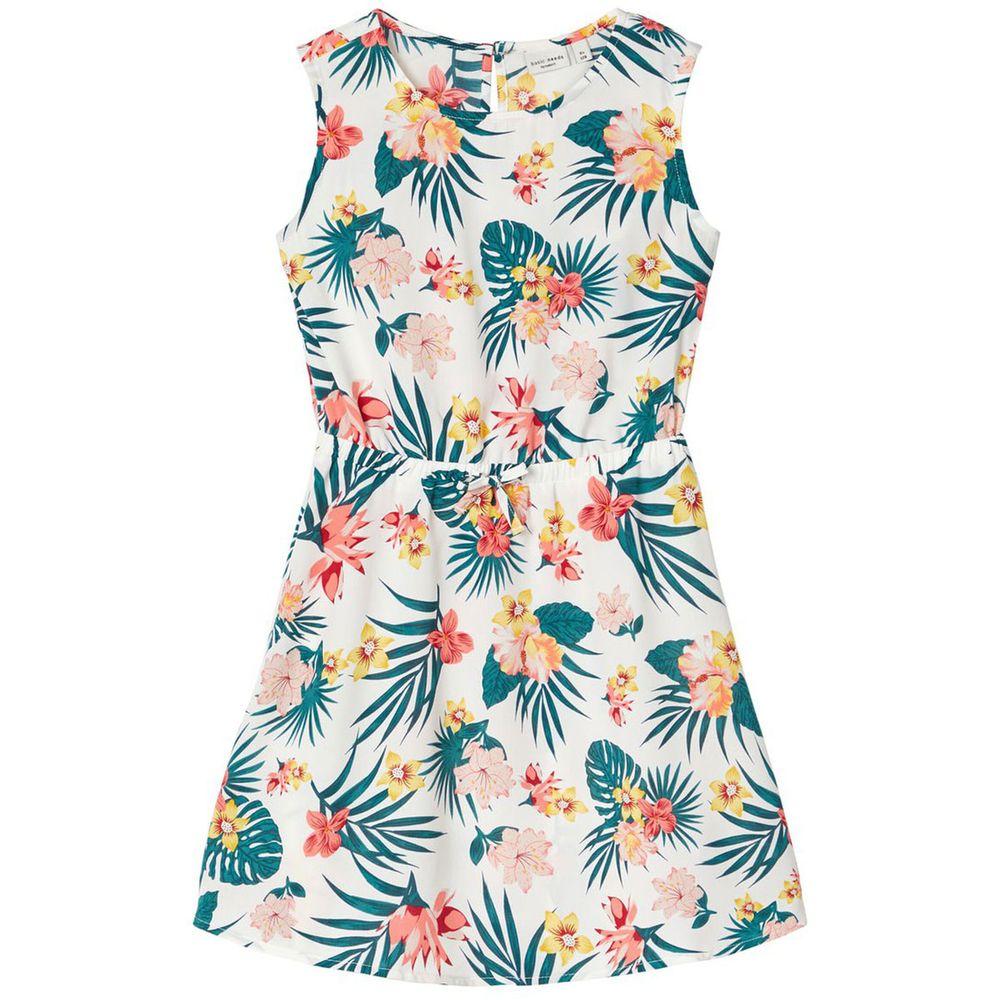 Платье Name it Tropical flowers, арт. 201.13176676.SWHI, цвет Зеленый с белым