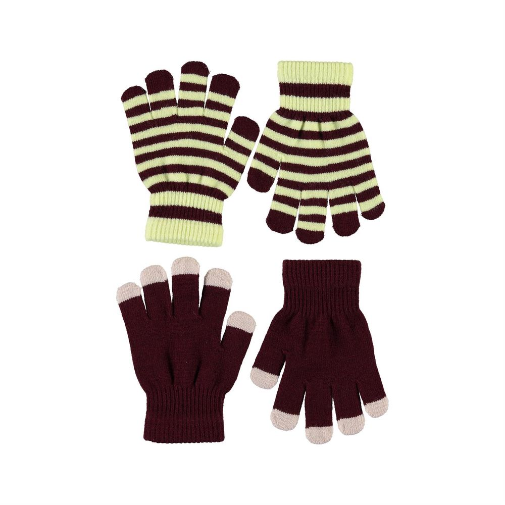 Перчатки Molo Kei Sumak (2 пары), арт. 7W20S204.8215, цвет Бордовый
