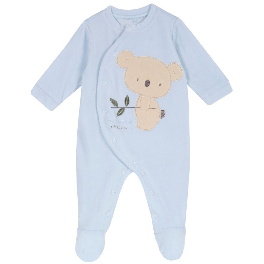 Комбинезон велюровый Chicco Little koala, арт. 090.02035.021, цвет Голубой