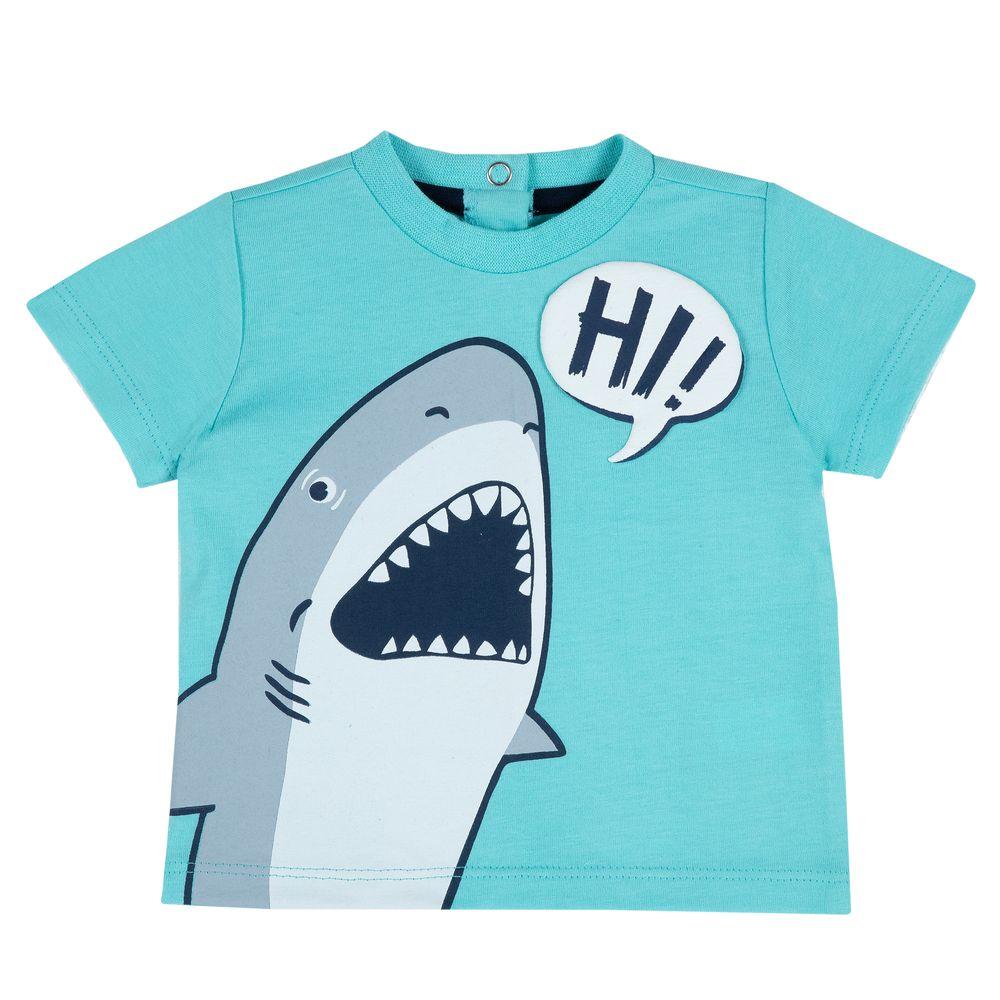 Футболка Chicco Friendly shark, арт. 090.06916.051, цвет Бирюзовый