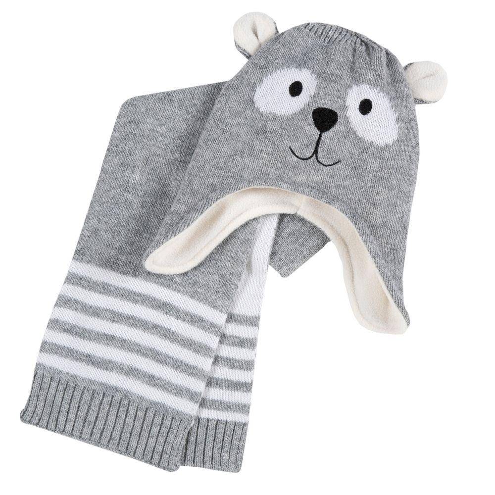 Комплект Chicco Little koala: шапка и шарф , арт. 090.04721.091, цвет Серый