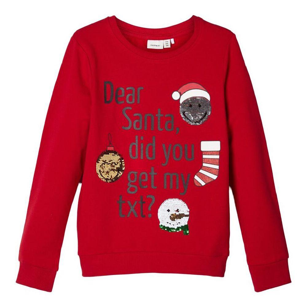 Джемпер Name it Dear Santa, арт. 193.13172248.JRED, цвет Красный