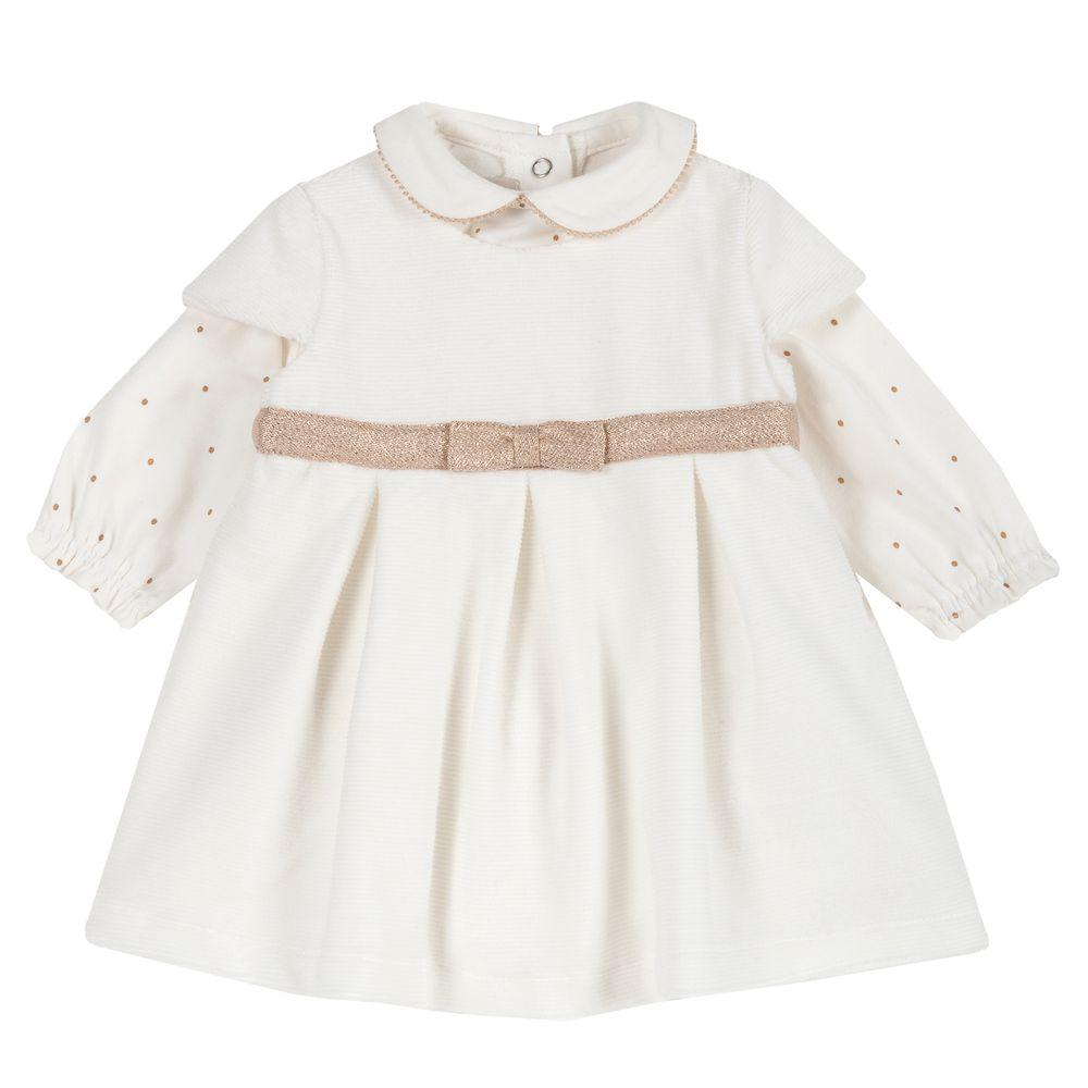 Комплект Chicco Happy princess: платье и реглан, арт. 090.77319.030, цвет Белый