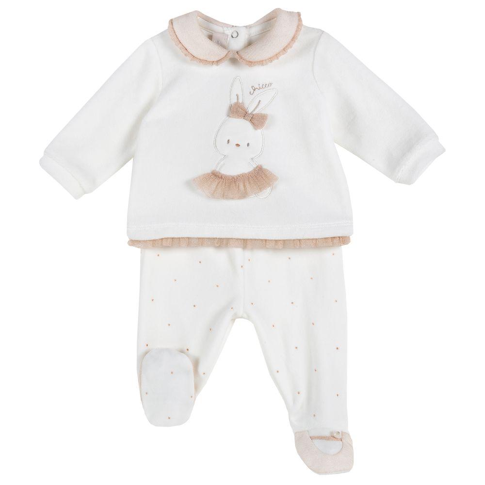 Костюм Chicco Happy fairy: рубашка и ползунки, арт. 090.76554.030, цвет Белый