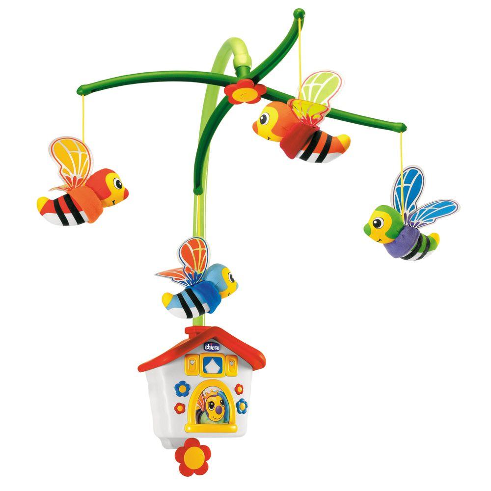 """Игрушка на кроватку механическая Chicco """"Пчелиный домик"""", арт. 67099"""