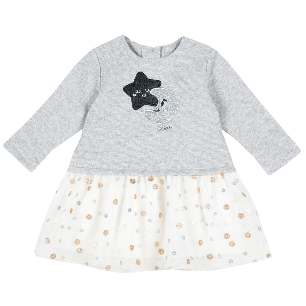Платье Chicco Shiny star, арт. 090.03759.091, цвет Серый