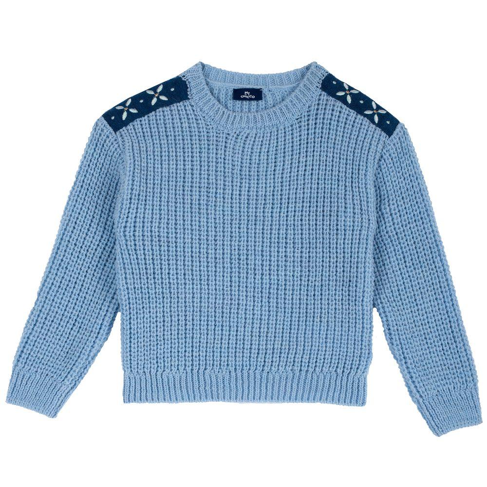 Пуловер Chicco Сrystal, арт. 090.64687.025, цвет Голубой