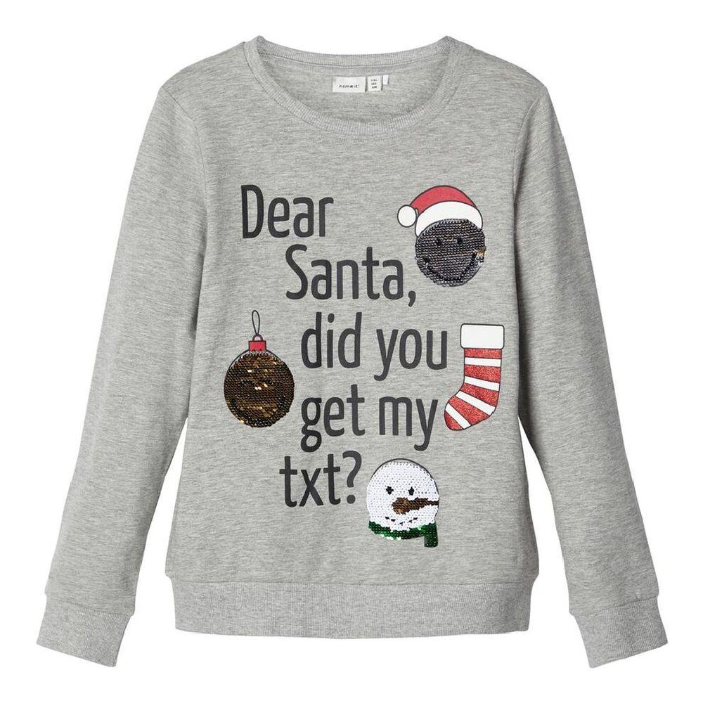 Джемпер Name it Dear Santa (серый), арт. 193.13172248.GMEL, цвет Серый