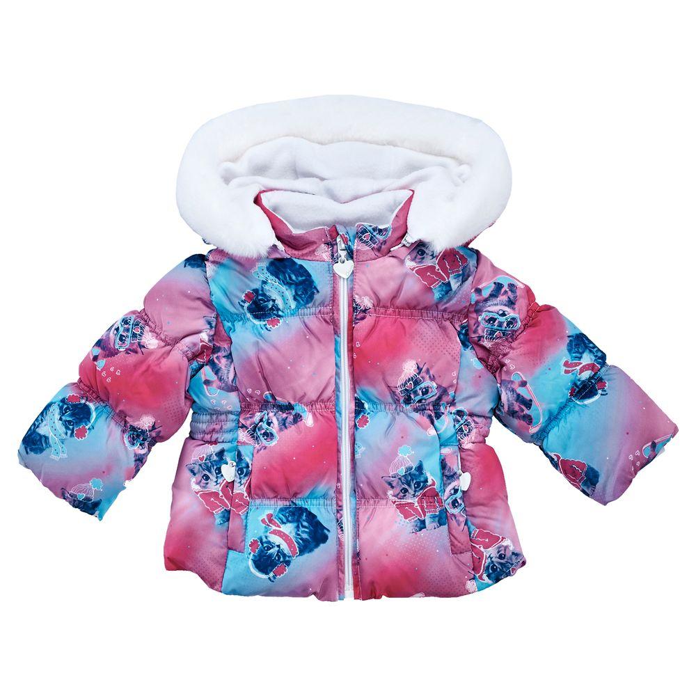 Куртка пуховая Chicco Kittens, арт. 090.87236, цвет Розовый