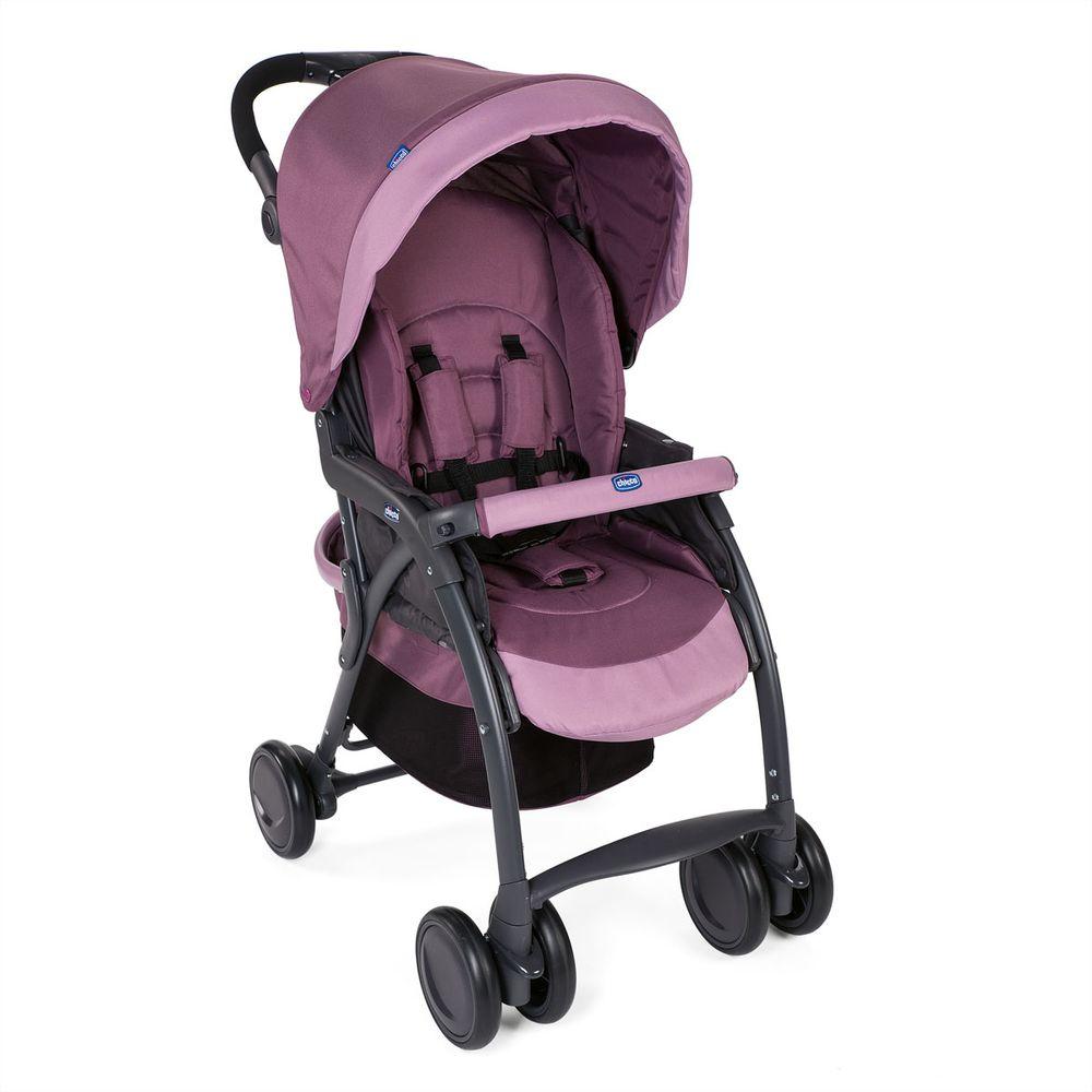 Прогулочная коляска Chicco Simplicity Top (с чехлом на ножки), арт. 79115, цвет Розовый