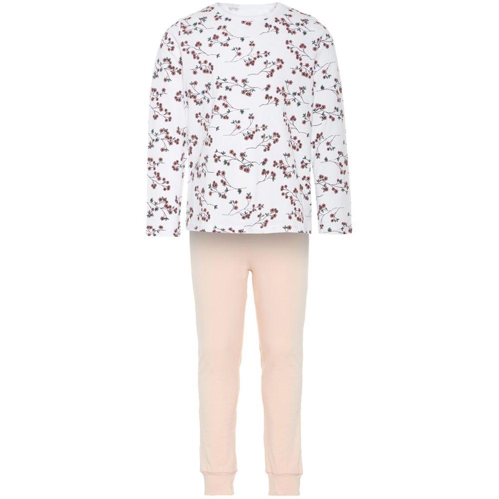 Пижама Name it Flowers, арт. 193.13163539.BWHI, цвет Розовый