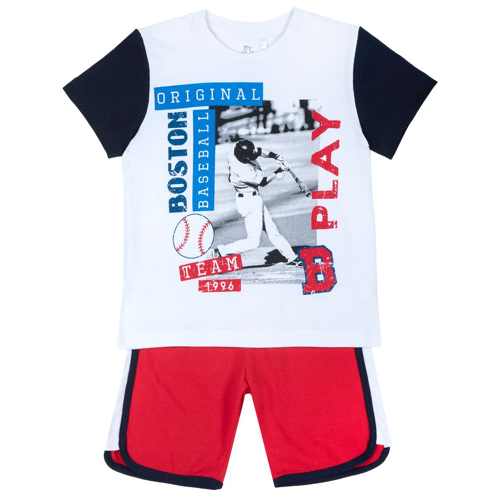 Костюм Chicco Nario: футболка и шорты, арт. 090.76517.033, цвет Красный с белым