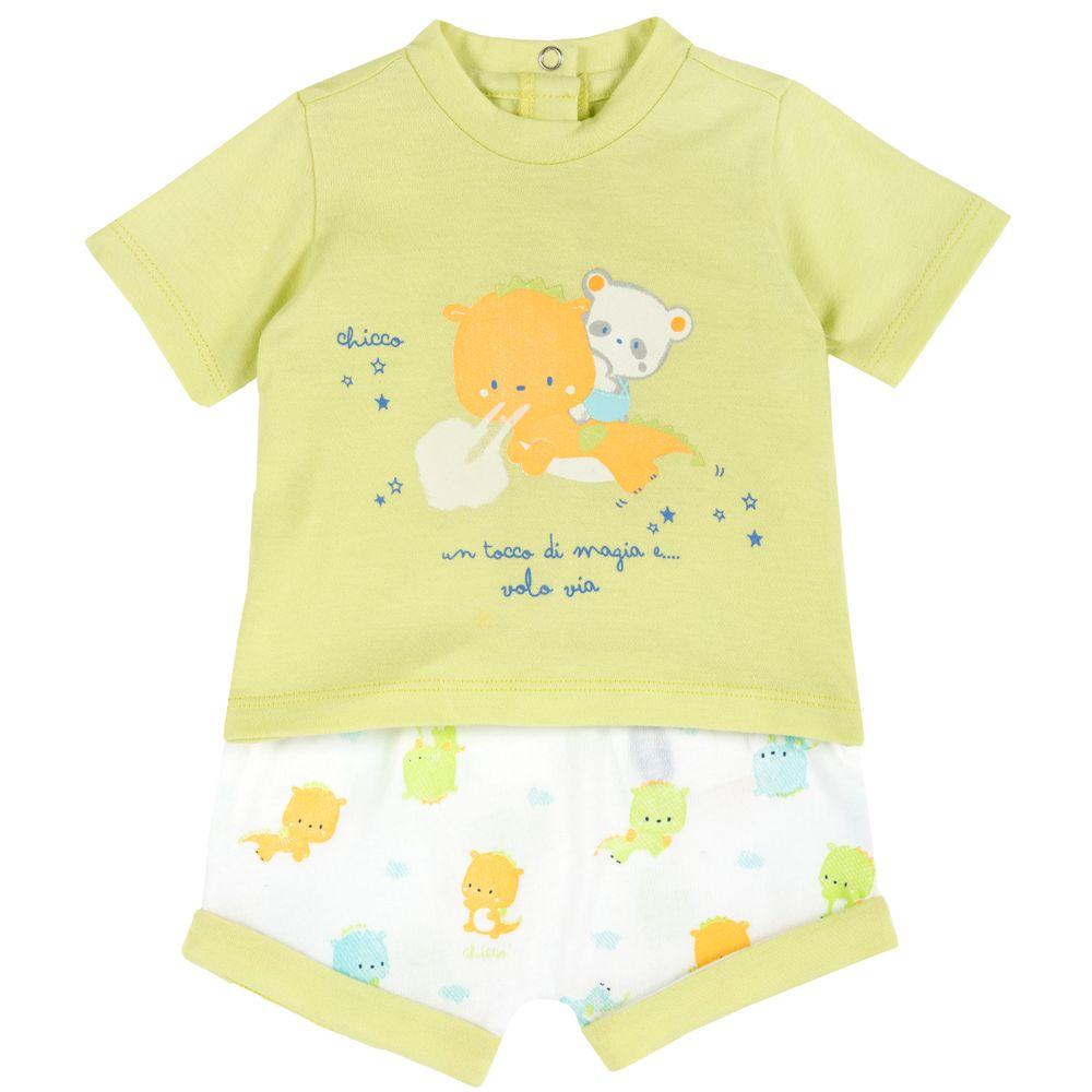 Костюм Chicco Sky party: футболка и шорты, арт. 090.76498.051, цвет Салатовый
