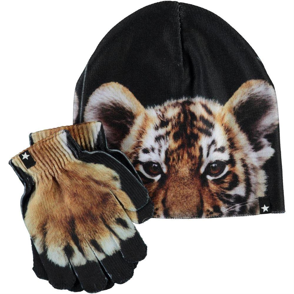 Комплект Molo Kaya Wild Tiger: шапка и перчатки, арт. 7W20S903.7260, цвет Черный