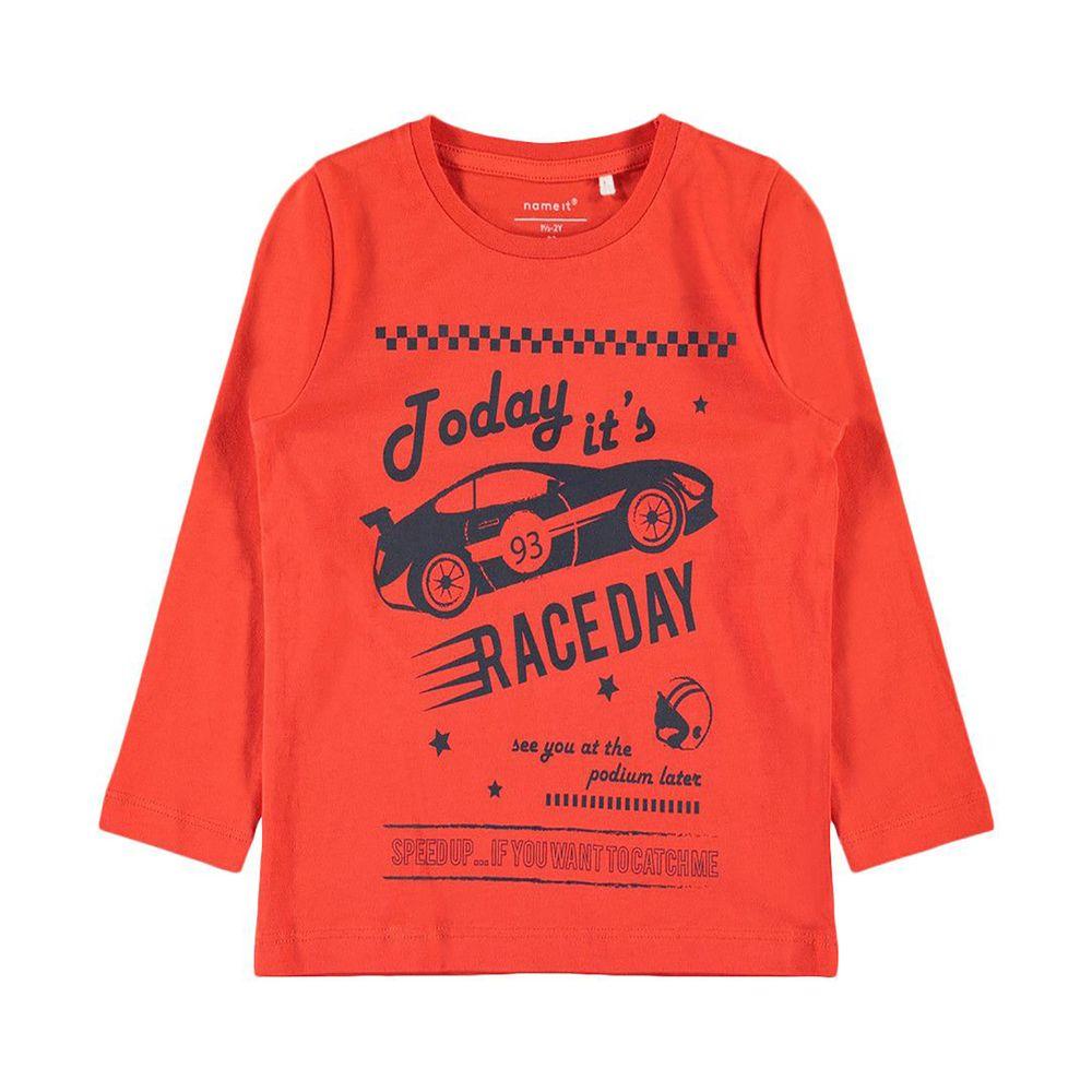 Реглан Name it Raceday, арт. 13161431.CTOM, цвет Оранжевый